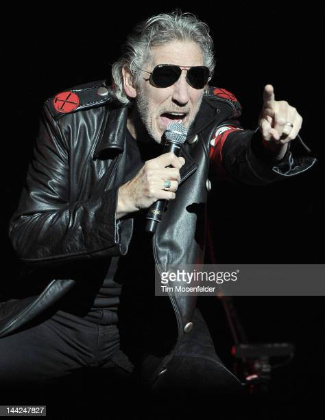 Roger Waters performs his first US stadium date of The Wall Live tour at ATT Park on May 11 2012 in San Francisco California