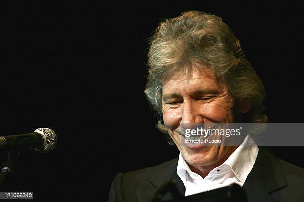 Roger Waters performs his interpretation of Ça Ira with a full orchestra and choir in the Parco Della Musica hall in Rome on November 17 2005