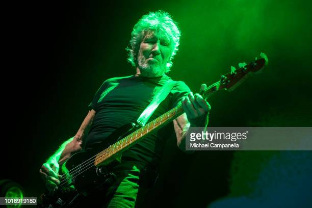 Roger Waters performs in concert during his 'Us Them' tour at Friends Arena on August 18 2018 in Stockholm Sweden