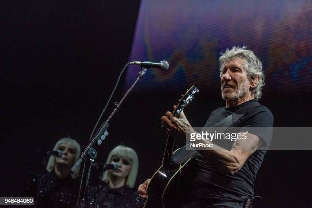 Roger Waters performs on stage at Mediolanum Forum of Assago on April 17 2018 in Milan Italy during US THEM Tour 2018