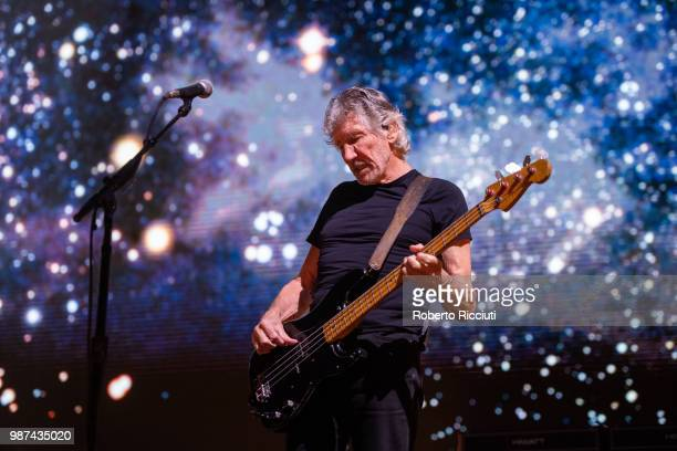 Roger Waters performs on stage at The SSE Hydro on June 29 2018 in Glasgow Scotland