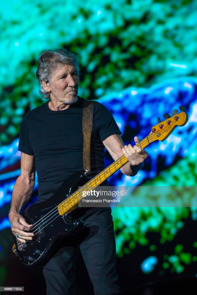 Roger Waters performs on stage during Lucca Summer Festival at Piazza Napoleone on July 11, 2018 in Lucca, Italy.