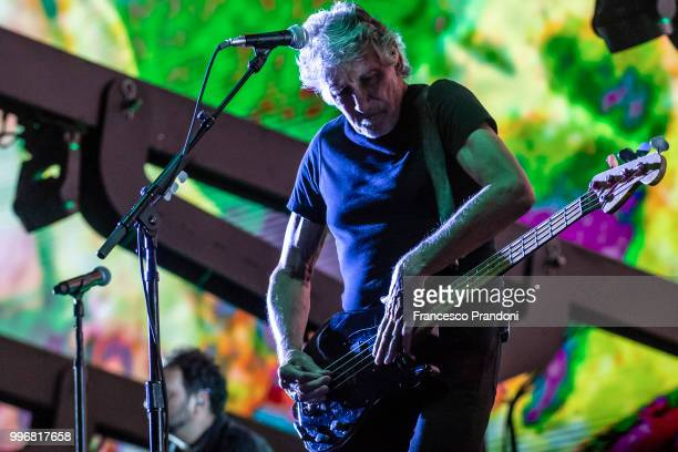 Roger Waters performs on stage during Lucca Summer Festival at Piazza Napoleone on July 11 2018 in Lucca Italy