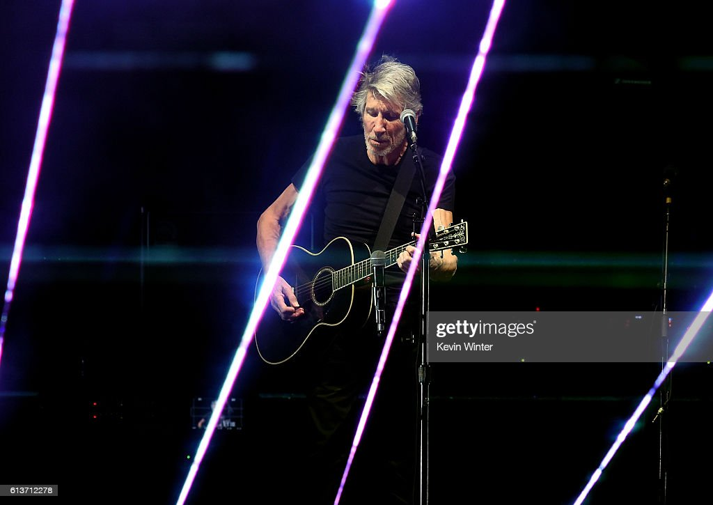 Roger Waters performs onstage during Desert Trip at the Empire Polo Field on October 9, 2016 in Indio, California.