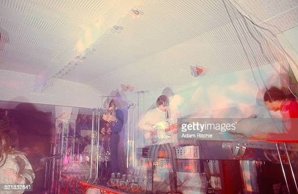 Roger Waters Syd Barrett and Rick Wright of Pink Floyd perform at the UFO Club London December 1966