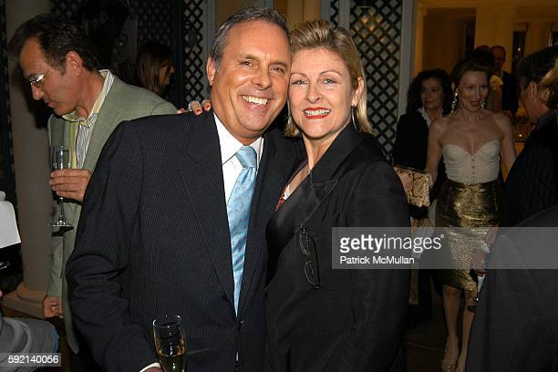 Roger Webster and Helena Lehane attend Cocktail Party to Launch The Douglas Hannant Fur Collection by Alexandros at Home of Geoffrey Bradfield on...