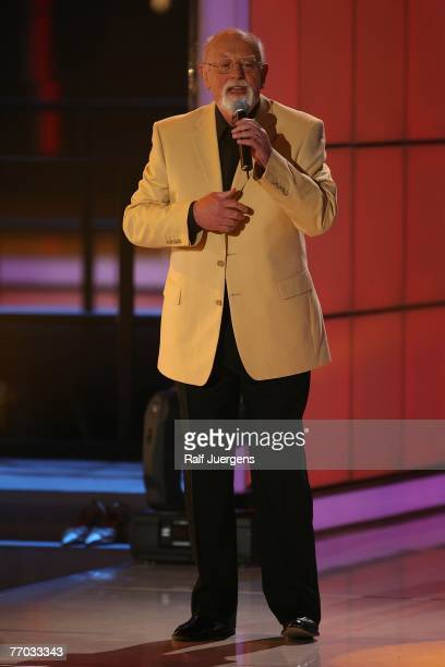 Roger Whittaker performs during rehearsals for the ZDF Hitparty on September 25 2007 at Cologne Germany