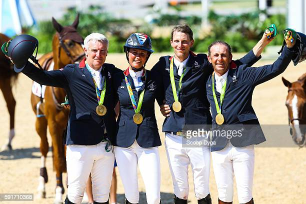 Roger Yves BOST, Penelope LEPREVOST, Kevin STAUT, Philippe ROZIER of France during Equestrian on Olympic Games 2016 in Rio at Olympic Equestrian...