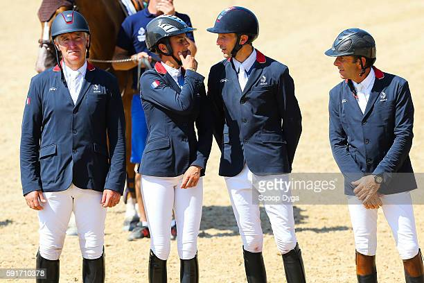 Roger Yves BOST Penelope LEPREVOST Kevin STAUT Philippe ROZIER of France during Equestrian on Olympic Games 2016 in Rio at Olympic Equestrian Centre...