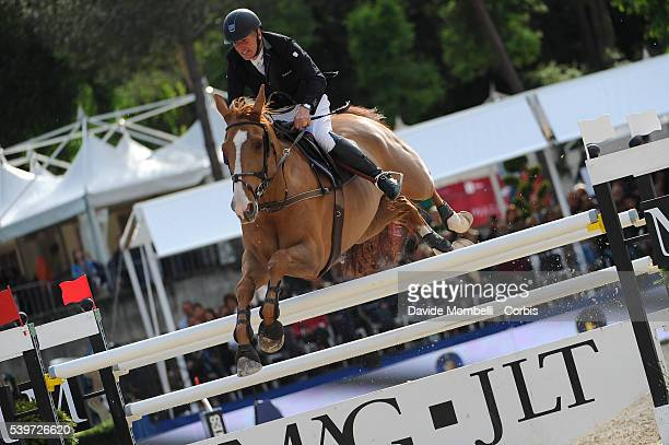 Roger Yves Bost Sangria Du Coty in the magnificent setting of Villa Borghese in Rome during the Nations Cup CSIO Piazza di Siena 2015