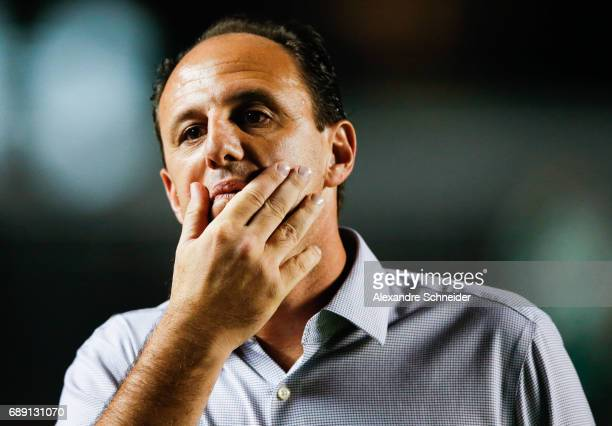 Rogerio Ceni head coach of Sao Paulo in action during the match between Sao Paulo and Palmeiras for the Brasileirao Series A 2017 at Morumbi stadium...