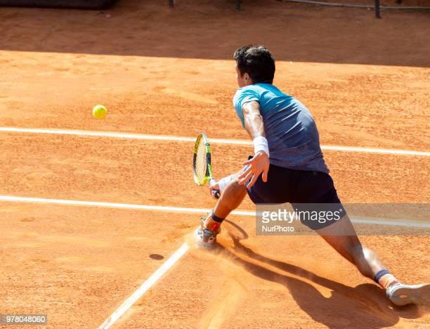 Rogerio Dutra Silva during match between Pedro Martinez and Rogerio Dutra Silva during day 3 at the Internazionali di Tennis Citt dell'Aquila in...