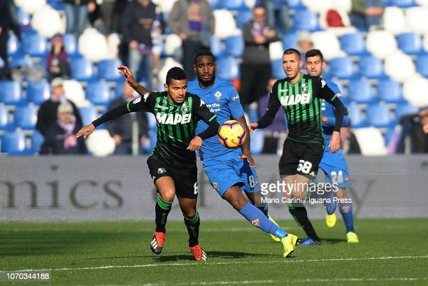Rogerio od US Sassuolo in action during the Serie A match between US Sassuolo and ACF Fiorentina at Mapei Stadium Citta' del Tricolore on December 9...