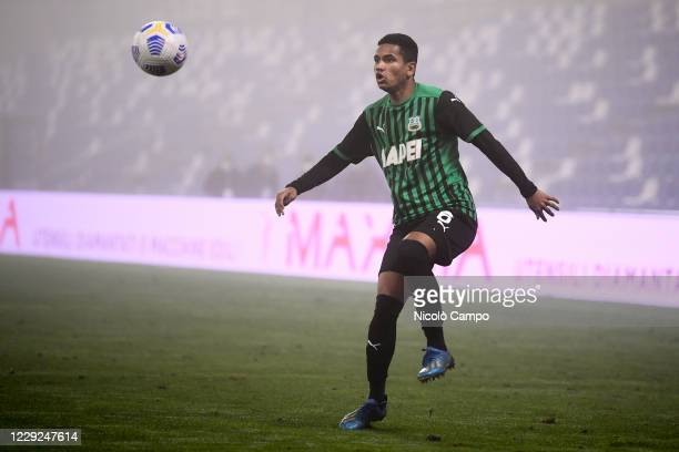 Rogerio Oliveira da Silva of US Sassuolo eyes the ball during the Serie A football match between US Sassuolo and Torino FC The match ended 33 tie
