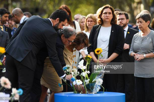 Rogerr Torrent, President of the Parliament of Catalonia, Quim Torra President of Catalonia, Laura Masvidal, wife of former member of the Catalan...