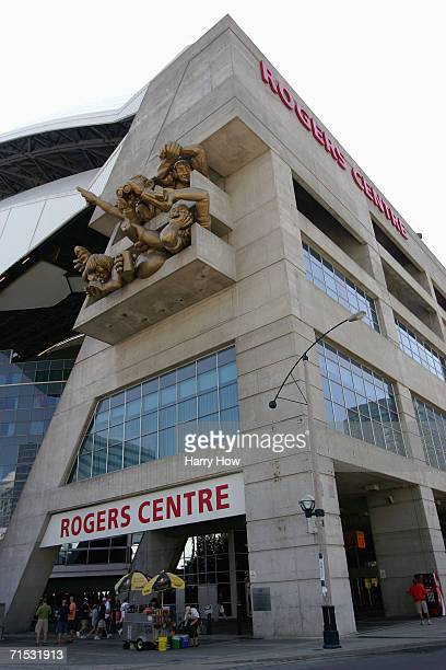 Rogers Centre is shown before the Toronto Blue Jays game against the New York Yankees at Rogers Centre on July 23 2006 in Toronto Ontario Canada The...