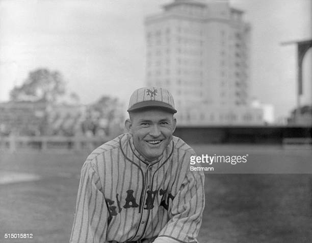 Rogers Hornsby erstwhile Cards star now of the Giants at the Giants' training camp at Sarasota Florida
