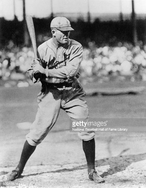 Rogers Hornsby of the St Louis Cardinals stands ready at bat during a season game Rogers Hornsby played for the St Louis Cardinals from 19151926 and...
