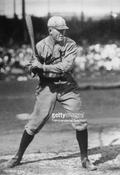 Rogers Hornsby second baseman for the St Louis Cardinals prepares for batting practice before a game at Sportsmans Park in 1922