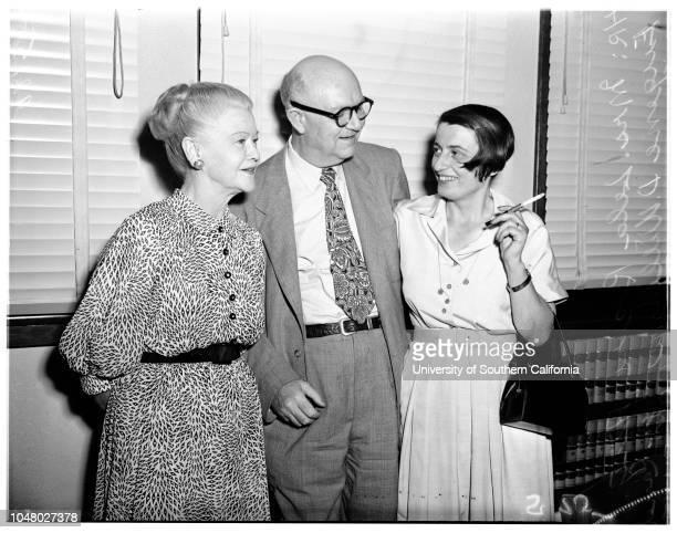 Rogers suit July 27 1951 Mrs Lela RogersAttorney Eugene D WilliamsAyn Rand O'Connor