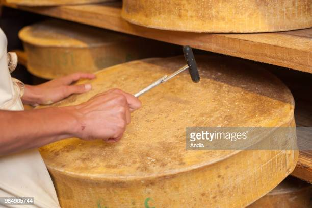Rognaix Company 'Les caves d'Affinage de Savoie' cheese ripener Round of Beaufort cheese