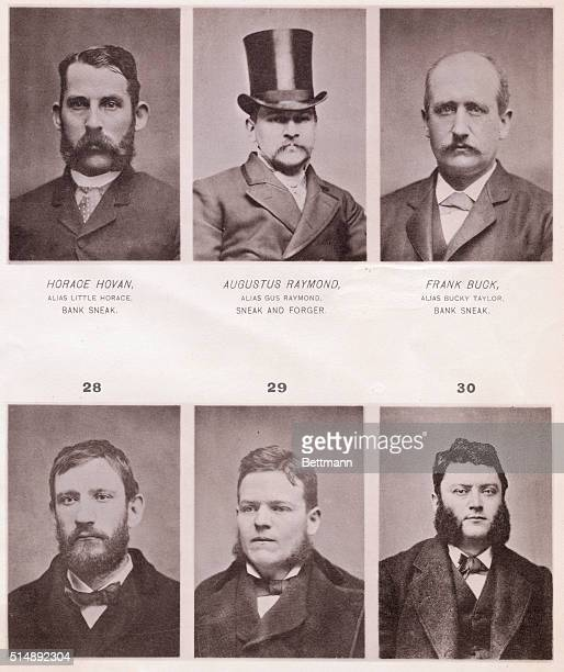 Most wanted men of 1890 Photos of sneaks thieves and other evil doers