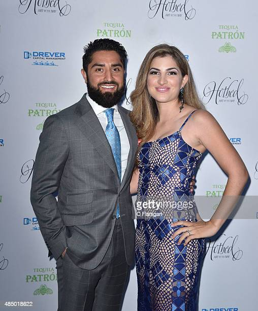 Roh Habibi and guest attend the Fourth Annual Hotbed Gala at The Drever Estate on August 22 2015 in Tiburon California