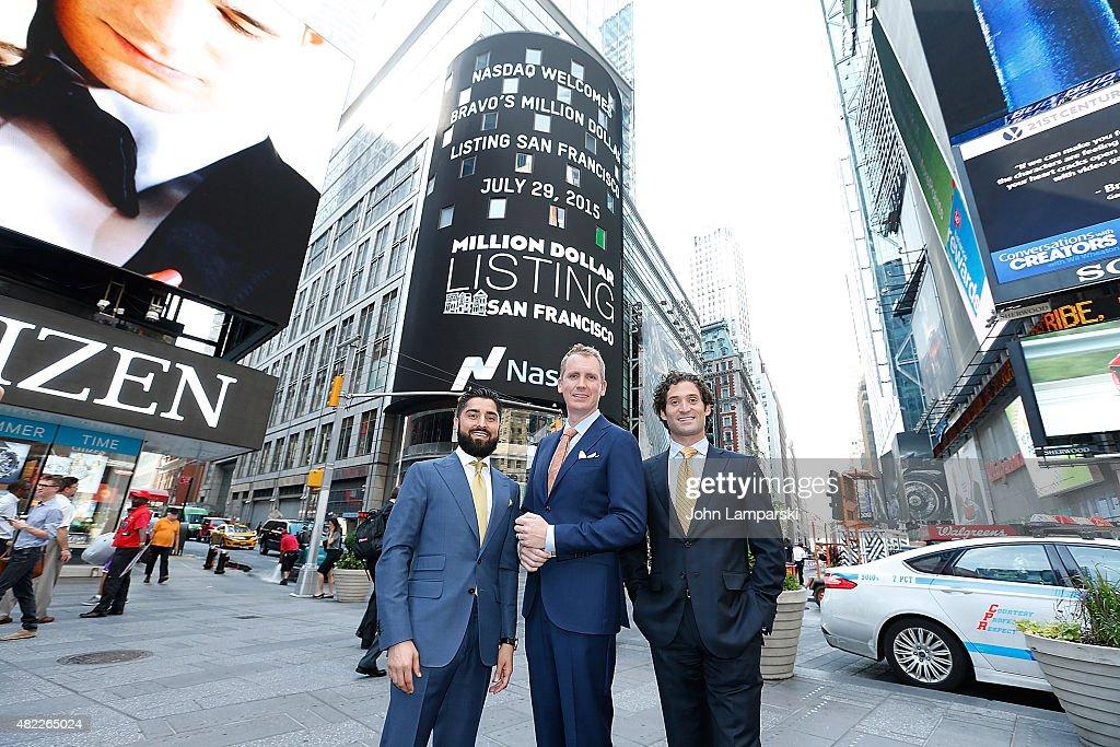 """""""Million Dollar Listing San Francisco"""" Ring The Nasdaq Stock Market Opening Bell : Fotografía de noticias"""
