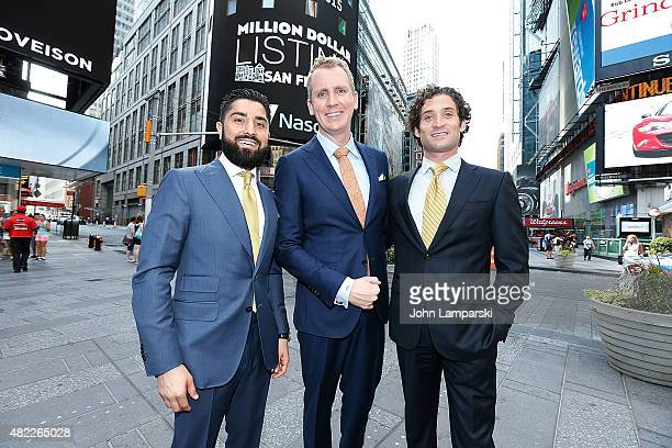 Roh Habibi Andrew Greenwell and Justin Fichelson ring the Nasdaq Stock Market opening bell celebrating the Million Dollar Listing San Francisco...