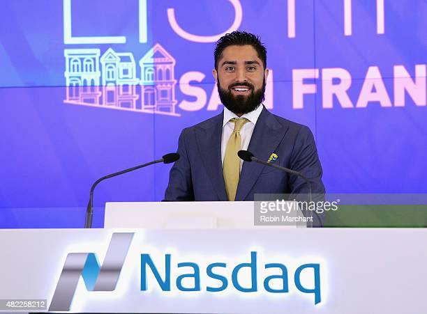 Roh Habibi attends the Million Dollar Listing San Francisco Ring The Nasdaq Stock Market Opening Bell at NASDAQ MarketSite on July 29 2015 in New...