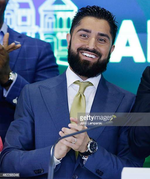 Roh Habibi rings the Nasdaq Stock Market opening bell celebrating the Million Dollar Listing San Francisco during opening bell at NASDAQ MarketSite...