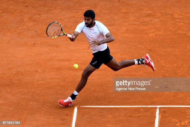 Rohan Bopanna of India during the Final of the Monte Carlo Rolex Masters 2017 on April 23 2017 in Monaco Monaco