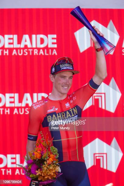 ADELAIDE AUSTRALIA JANUARY 20 Rohan Dennis of Australia and BahrainMerida Pro Cycling Team celebrates after Stage 6 from McLaren Vale to Willunga...