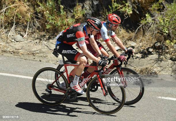 Rohan Dennis of Australia and BMC Racing Team and Nathan Haas of Australia and Team Katusha Alpecin compete during stage four of the 2018 Tour Down...