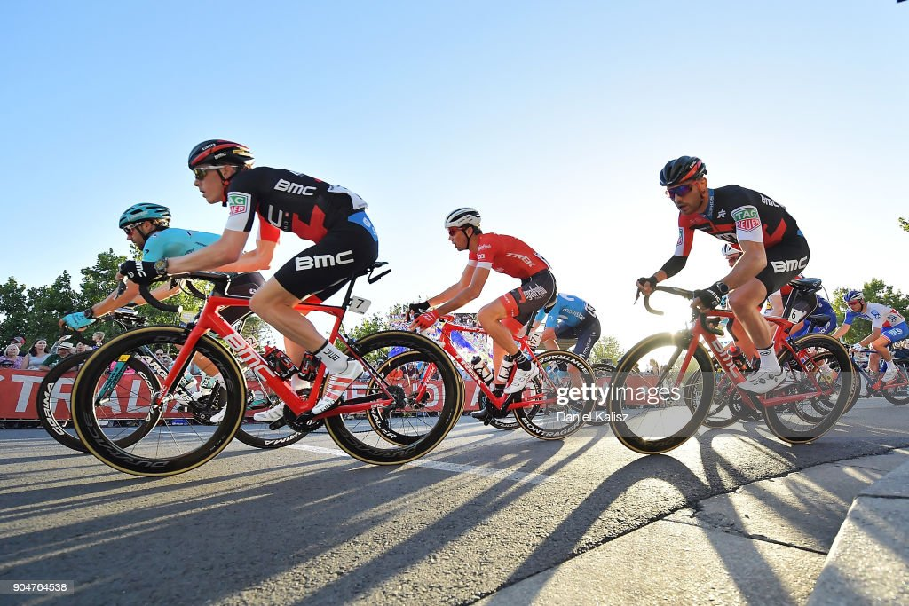Rohan Dennis of Australia and BMC Racing Team competes during the People's Choice Classic during the 2018 Tour Down Under on January 14, 2018 in Adelaide, Australia.