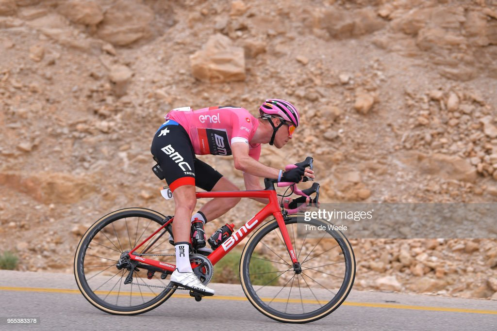 Rohan Dennis of Australia and BMC Racing Team Pink Leader Jersey / during the 101th Tour of Italy 2018, Stage 3 a 229km stage from Be'er Sheva to Eilat / Giro d'Italia / on May 6, 2018 in Eilat, Israel.