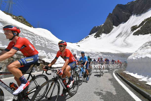 Rohan Dennis of Australia and Team Bahrain Merida / Domenico Pozzovivo of Italy and Team Bahrain Merida / Nufenenpass / Snow / Peloton / during the...