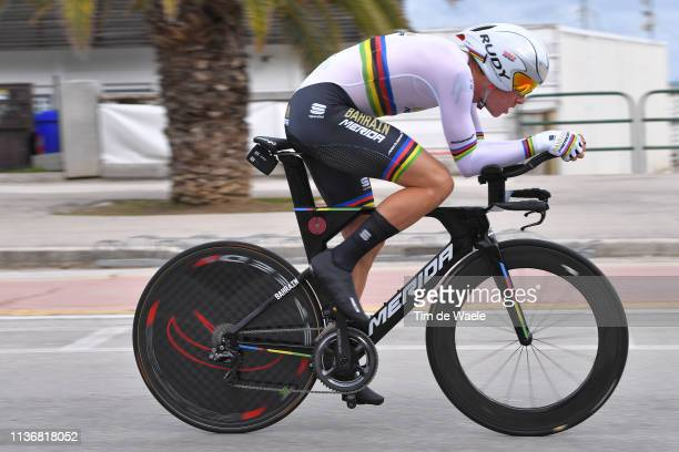 Rohan Dennis of Australia and Team Bahrain - Merida / during the 54th Tirreno-Adriatico 2019, Stage 7 a 10,05km Individual Time Trial stage from San...