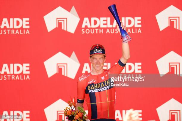Rohan Dennis of Australia and Team Bahrain-Merida celebrates on the podium during the 21st Santos Tour Down Under 2019, Stage 6 a 151,5km stage from...