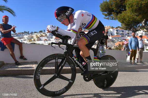 Rohan Dennis of Australia and Team INEOS / Carvoeiro Village / Fans / Public / during the 46th Volta ao Algarve 2020 Stage 5 a 203km Individual Time...