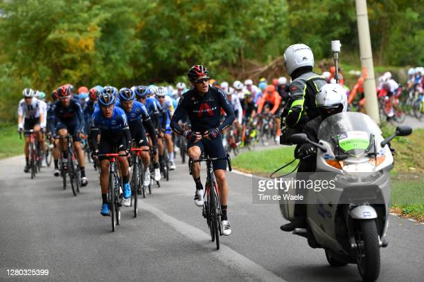 Rohan Dennis of Australia and Team INEOS Grenadiers / Dylan Sunderland of Australia and NTT Pro Cycling Team / Danilo Wyss of Switzerland and NTT Pro...