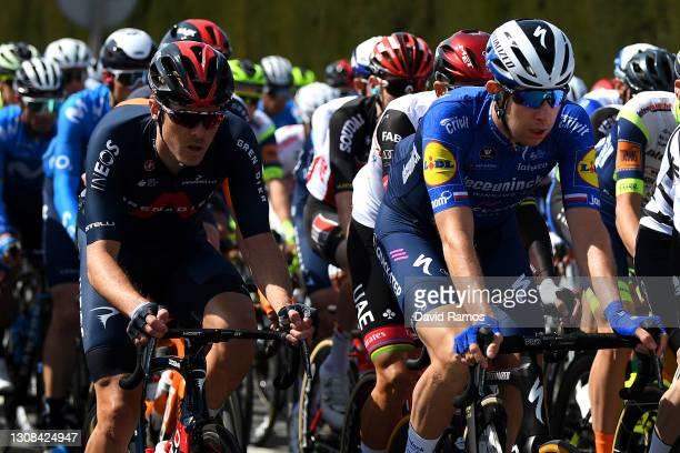 Rohan Dennis of Australia and Team INEOS Grenadiers & Josef Cerny of Czech Republic and Team Deceuninck - Quick-Step during the 100th Volta Ciclista...