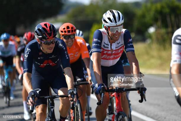 Rohan Dennis of Australia and Team INEOS Grenadiers / Koen De Kort of The Netherlands and Team Trek-Segafredo / during the 55th Tirreno-Adriatico...