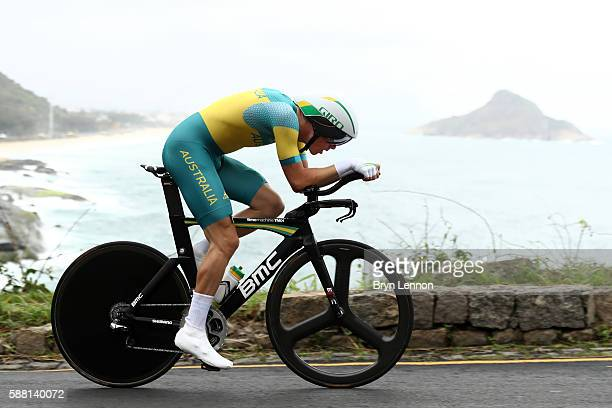 Rohan Dennis of Australia competes in the Cycling Road Men's Individual Time Trial on Day 5 of the Rio 2016 Olympic Games at Pontal on August 10 2016...