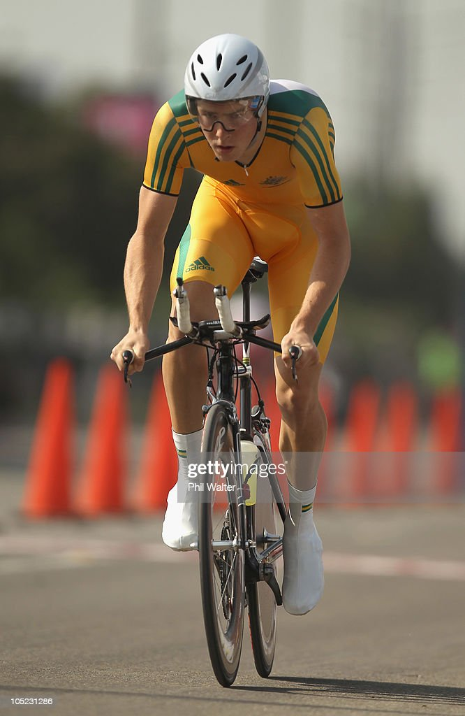 Rohan Dennis of Australia competes in the Individual Time Trial during day ten of the Delhi 2010 Commonwealth Games on October 13, 2010 in Delhi, India.