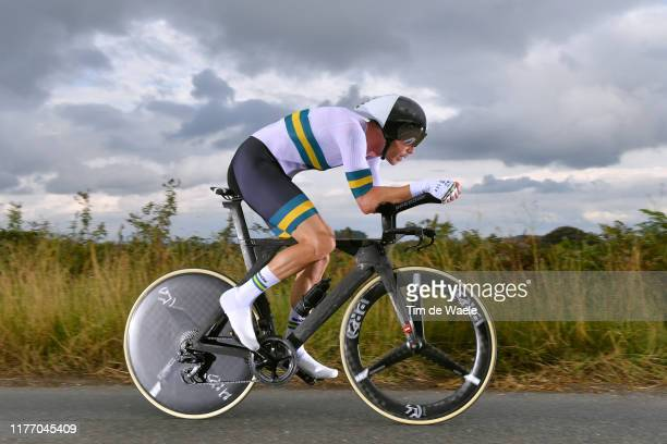 Rohan Dennis of Australia / during the 92nd UCI Road World Championships 2019, Individual Time Trial Men Elite a 54km race from Northhallerton to...