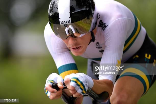 Rohan Dennis of Australia / during the 92nd UCI Road World Championships 2019 Individual Time Trial Men Elite a 54km race from Northhallerton to...