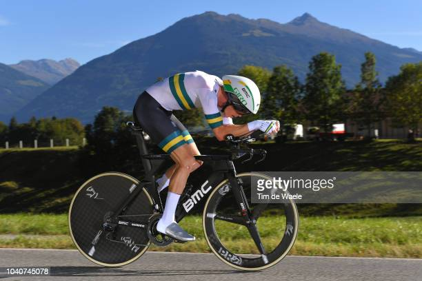 Rohan Dennis of Australia / during the Men Elite Individual Time Trial a 52,5km race from Rattenberg to Innsbruck 582m at the 91st UCI Road World...