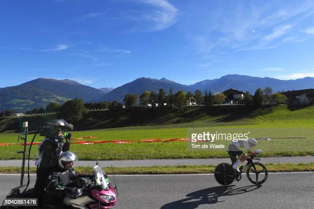 Rohan Dennis of Australia / Landscape / Mountains / during the Men Elite Individual Time Trial a 525km race from Rattenberg to Innsbruck 582m at the...