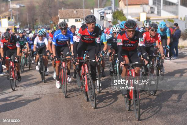 Rohan Dennis of Australia / Michael Schar of Switzerland / Damiano Caruso of Italy Blue Leader Jersey / during the 53rd TirrenoAdriatico 2018 Stage 5...